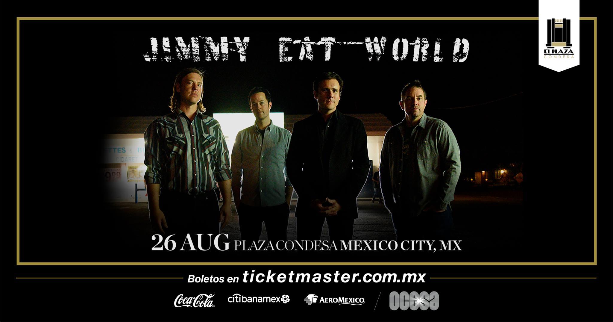 Gana un meet and greet con Jimmy Eat World en Ciudad de México